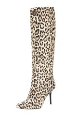 Jimmy Choo Leopard-print Pull-on Boot - Lyst