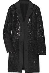 Philosophy di Alberta Ferretti Sequined Wool-blend Coat - Lyst