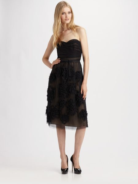 Robert Rodriguez Strapless Dress in Black - Lyst