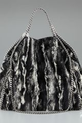 Stella McCartney Eco-fur Falabella Tote - Lyst
