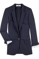 Stella McCartney Boyfriend-fit Cotton-blend Blazer - Lyst