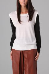 3.1 Phillip Lim Knit Top with Silk Sleeves - Lyst