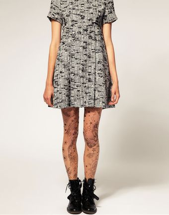 ASOS Collection Asos Tattoo Tights - Lyst