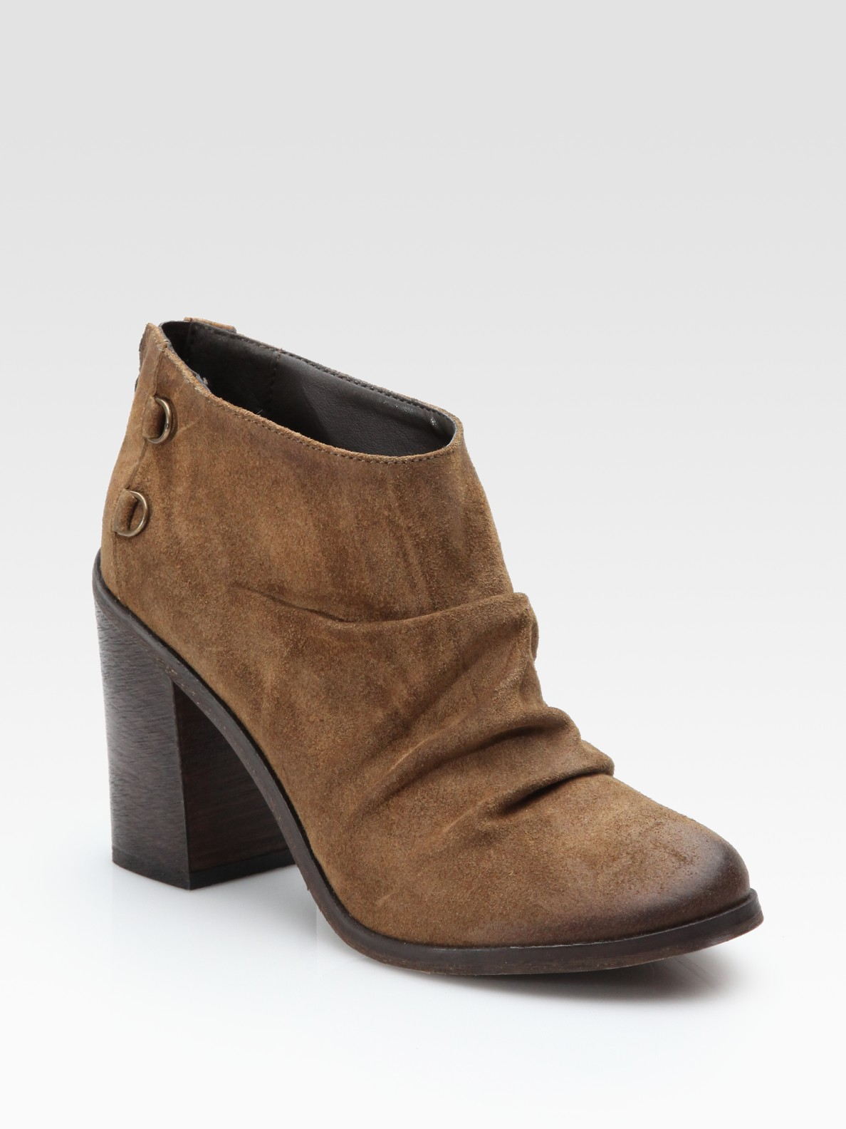 boutique 9 shale slouchy booties in brown brown suede lyst