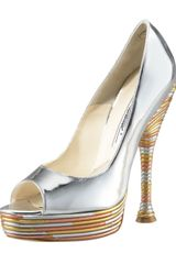 Brian Atwood Metallic Piped Pump - Lyst