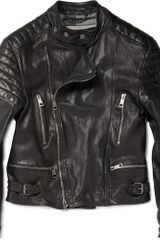 Burberry Brit Lindbergh Leather Biker Jacket