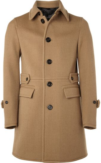 Burberry Prorsum Single-breasted Wool-blend Coat - Lyst