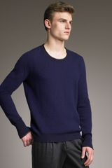 Burberry Prorsum Leather-trim Sweater - Lyst