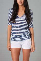 C&c California Uneven Stripe Tunic - Lyst