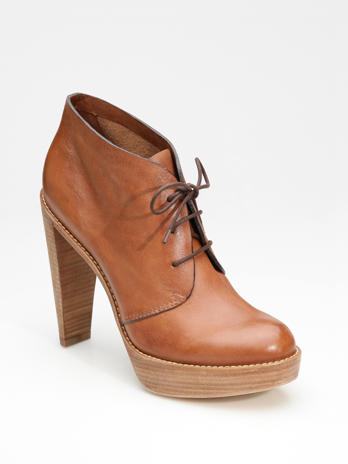 cole haan air lace up ankle boots in brown