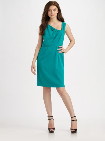 Elie Tahari Havana Dress in Blue (black) - Lyst