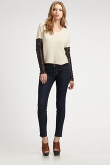Elizabeth And James Mitch Two-tone Tee - Lyst