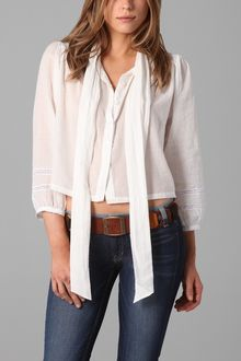 Elizabeth And James Maddie Tie Neck Shirt - Lyst