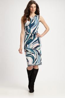 Emilio Pucci Sleeveless Jersey Dress - Lyst