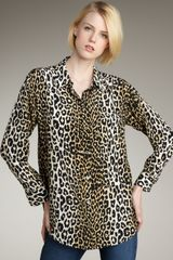 Equipment Daddy Leopard-print Silk Blouse - Lyst
