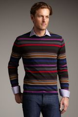 Etro Striped Wool Sweater - Lyst