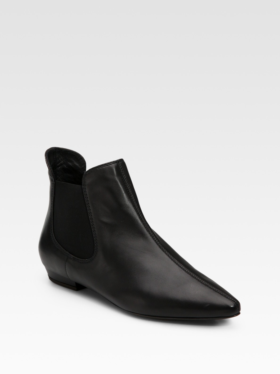 giuseppe zanotti flat leather ankle boots in black lyst