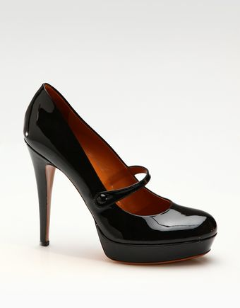Gucci Betty Patent Leather Mary Jane Pumps - Lyst