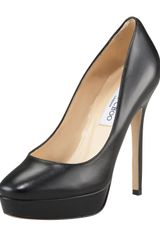 Jimmy Choo Leather Platform Pump - Lyst