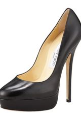 Jimmy Choo Platform Leather Pump - Lyst
