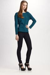 Marc By Marc Jacobs Eloise Striped Jersey Boatneck Top - Lyst