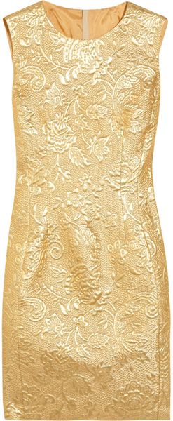Moschino Metallic Brocade Dress - Lyst