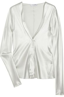 Narciso Rodriguez Stretch Silk-blend Blouse - Lyst