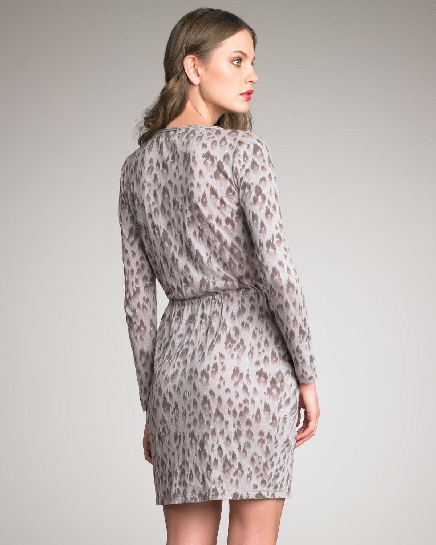ee286ab25f Lyst - Rebecca Taylor Silk Leopard-print Dress