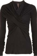 Rick Owens Cowl Neck Top - Lyst