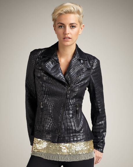 Royal underground leather jacket