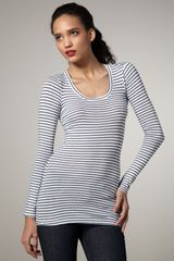 Splendid Striped Long-sleeve Tee - Lyst