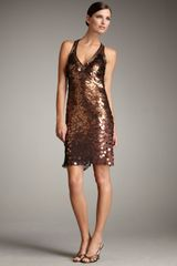 Sue Wong Metallic Paillette Dress - Lyst