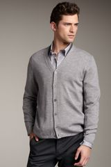 Theory Double-collar Cardigan - Lyst