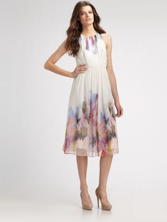 Tibi Aurora Silk Floral Dress - Lyst
