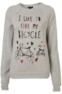 Topshop Bicycle Sweatshirt - Lyst