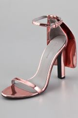 Alexander Wang Fabiana Metallic Leather Sandals - Lyst
