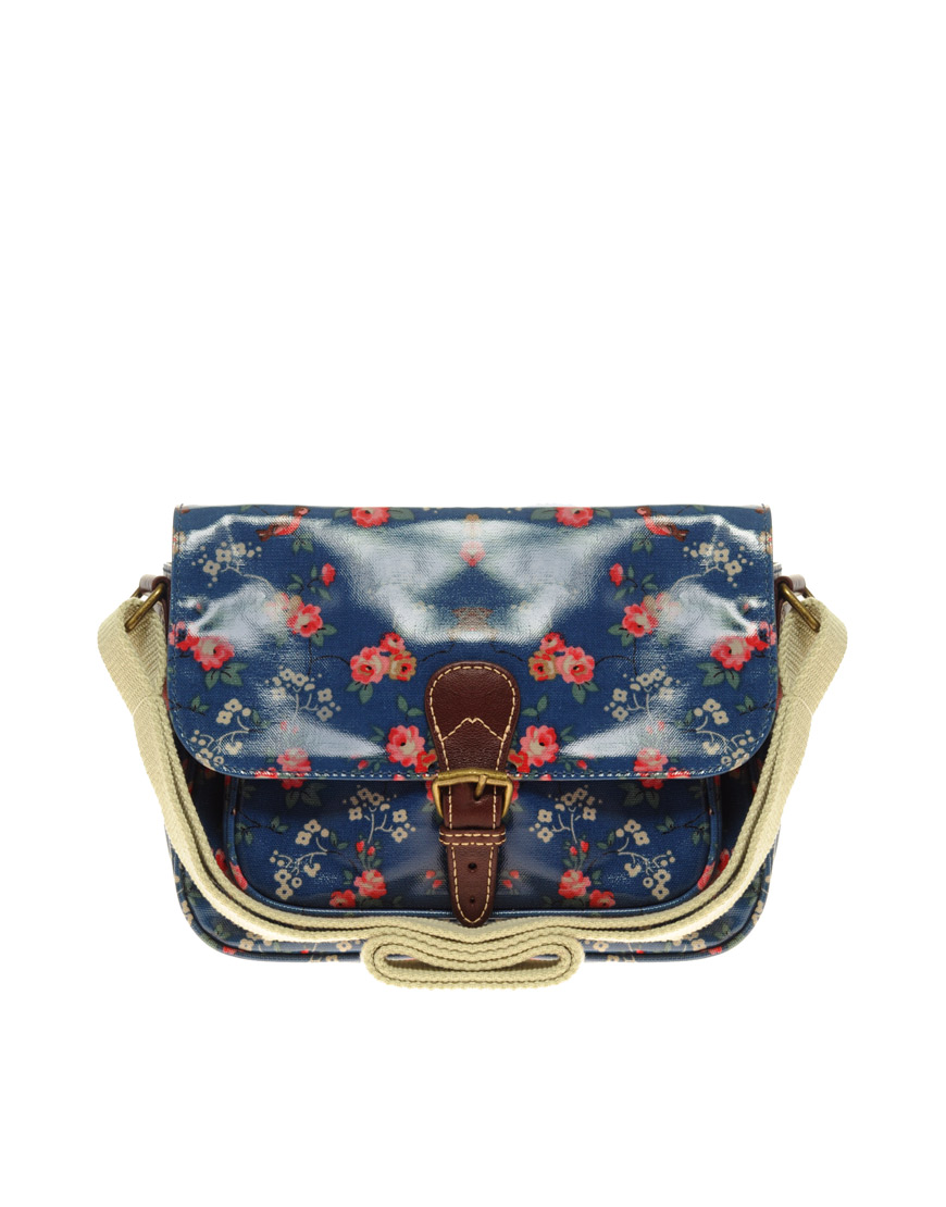 Cath Kidston Small Saddle Bag In Floral (blue) | Lyst