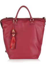 Diane Von Furstenberg Drew Textured-leather Bucket Tote - Lyst
