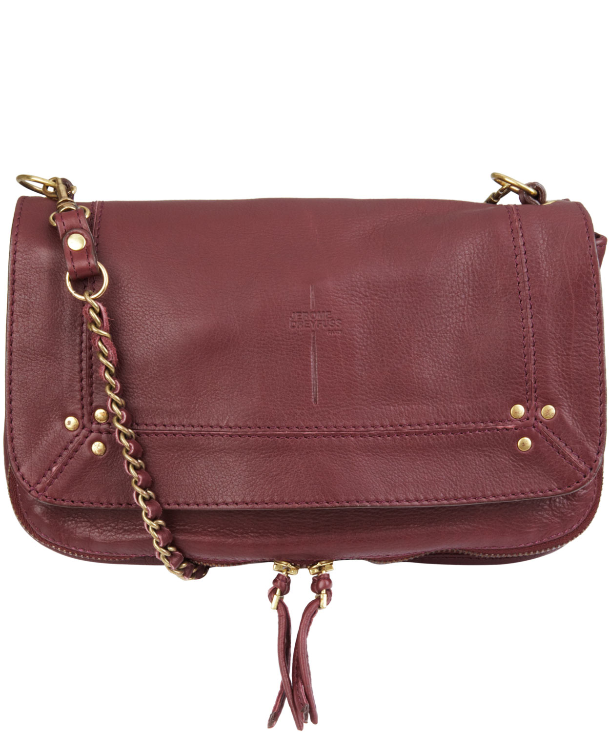 Lyst - Jérôme Dreyfuss Burgundy Bobi Soft Shoulder Bag in Red 66e64a513