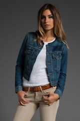 Textile Elizabeth And James Collarless Sid Jean Jacket - Lyst