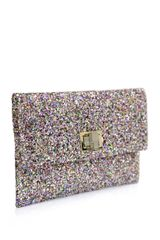 Anya Hindmarch Valorie Glitter Envelope Clutch in Multicolor (pink) - Lyst