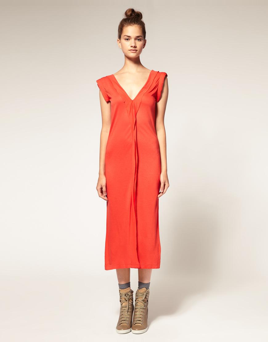 Asos Collection Asos Peplum Top In Sequin In Natural: Asos Collection Asos Africa Jersey Midi Dress In Orange