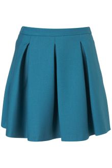 Topshop Pleated Skater Skirt - Lyst
