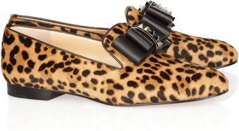 Christian Louboutin Dufferin Embellished Calf Hair Loafers - Lyst