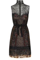Bottega Veneta Silk-blend Lace Bustier Dress - Lyst