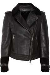 Burberry Brit Shearling Biker Jacket - Lyst