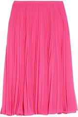 Halston Heritage Knife-pleat Georgette Skirt - Lyst
