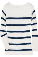 J.Crew Striped Linen Sweater