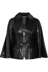 Junya Watanabe Trapeze-sleeved Leather Jacket - Lyst