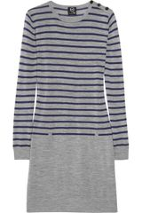 McQ by Alexander McQueen Striped Wool Sweater Dress - Lyst